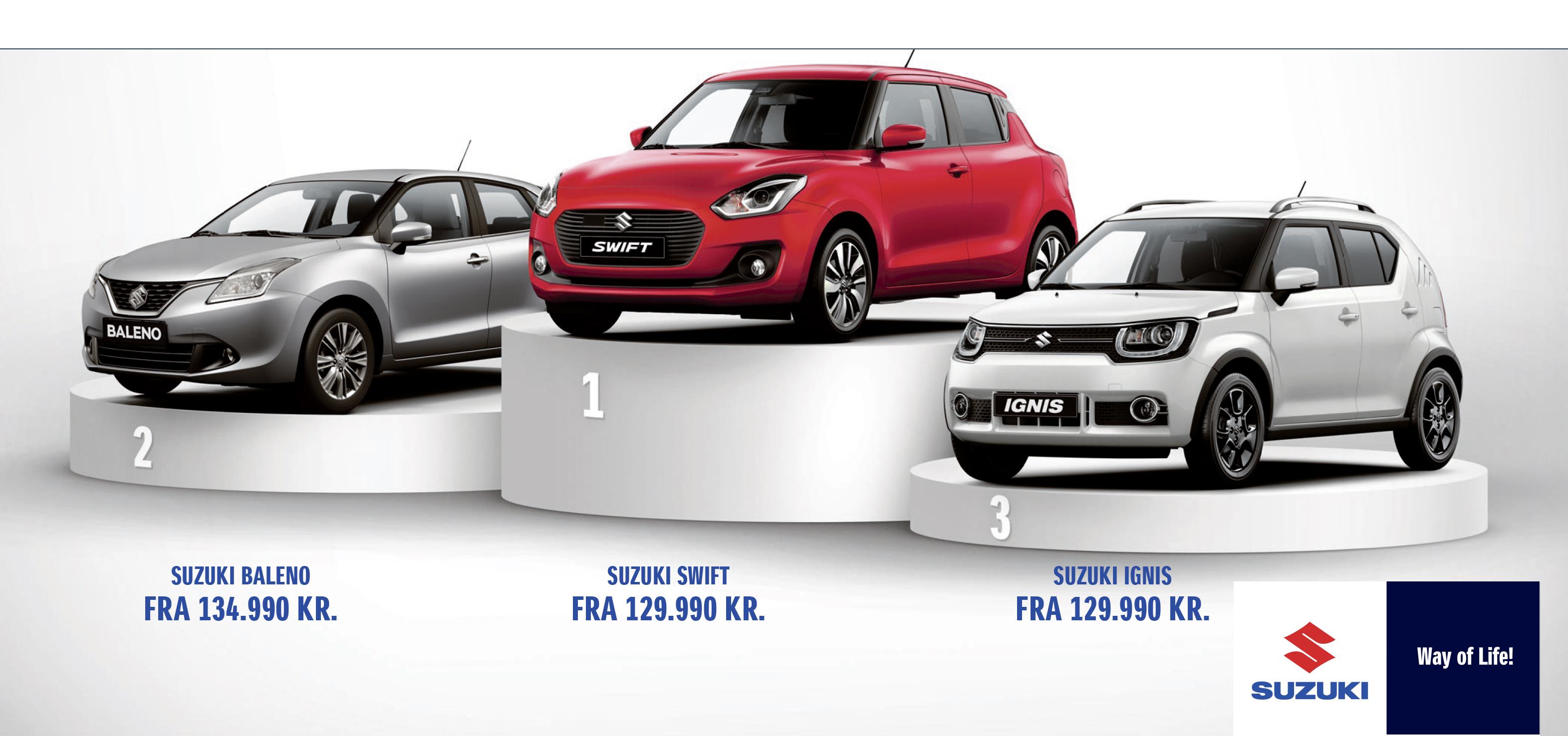 Suzuki er BILLIGST. Få syn for sagen hos Suzuki København - Daugaard Biler
