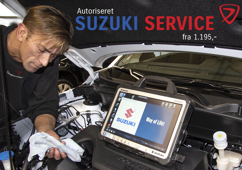 Aut. Suzuki service fra kun 1.195,- kr.