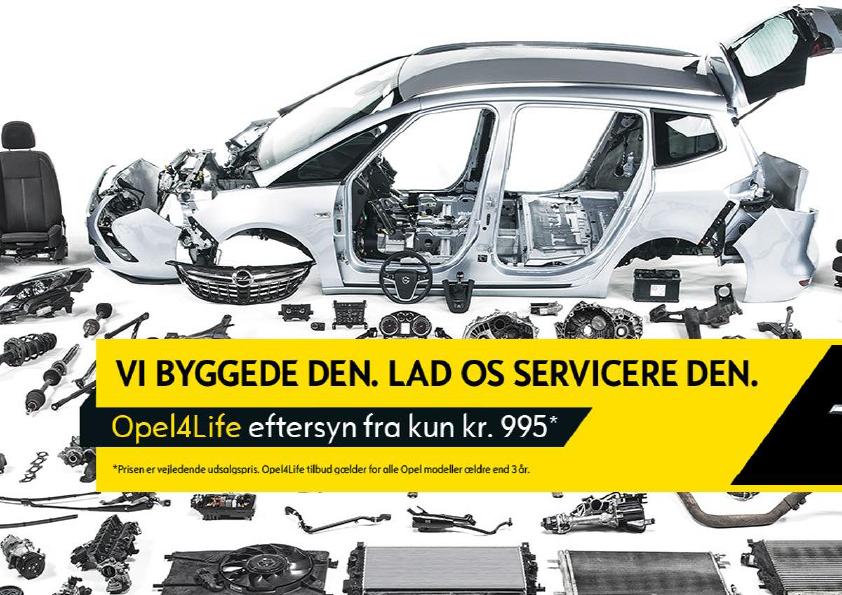 OPEL4LIFE service fra 995,- kr.